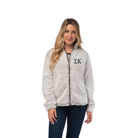 Sigma Kappa Sherpa Full Zip Jacket