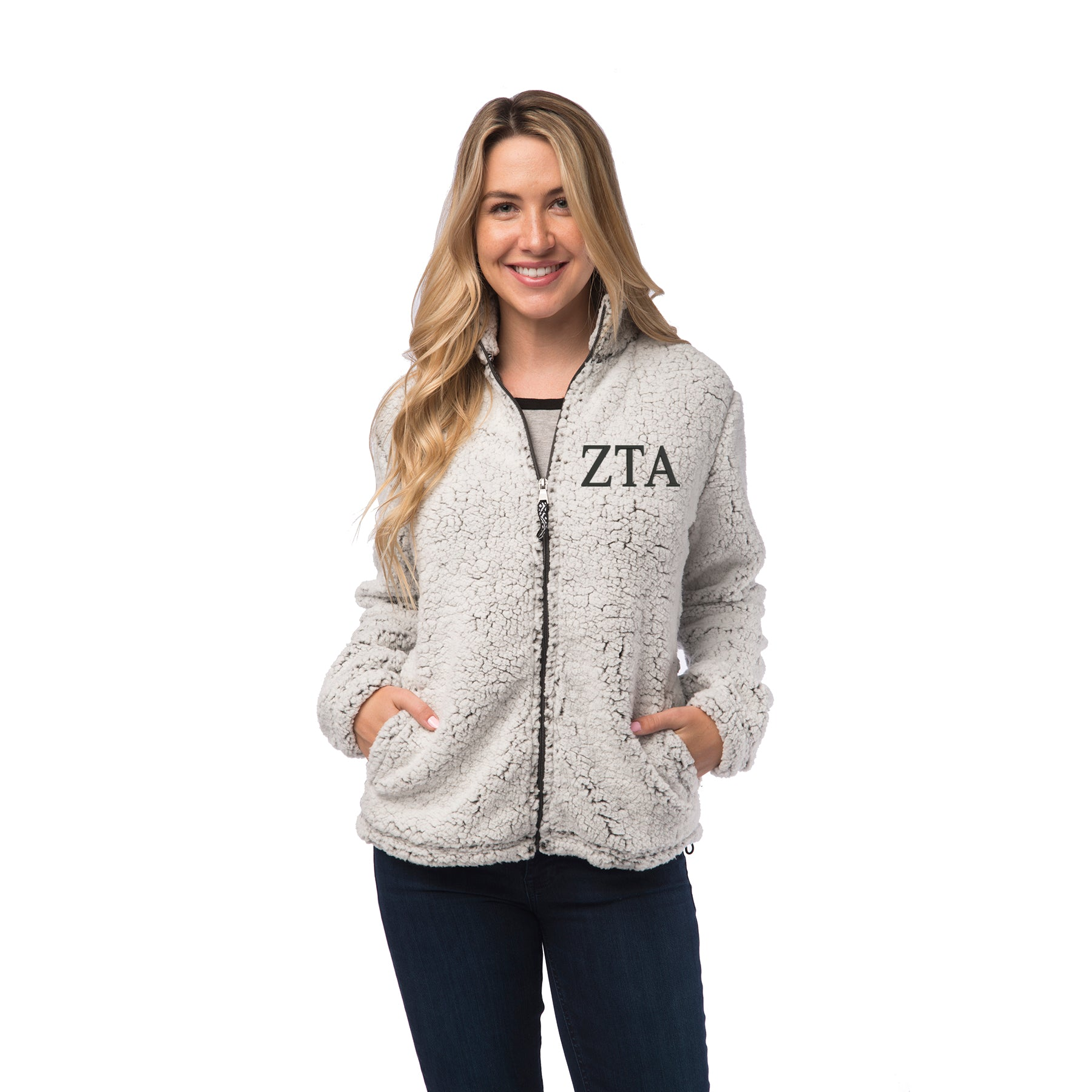 Zeta Tau Alpha Sherpa Full Zip Jacket