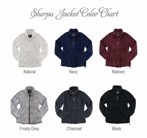 Alpha Sigma Alpha Sherpa Full Zip Jacket