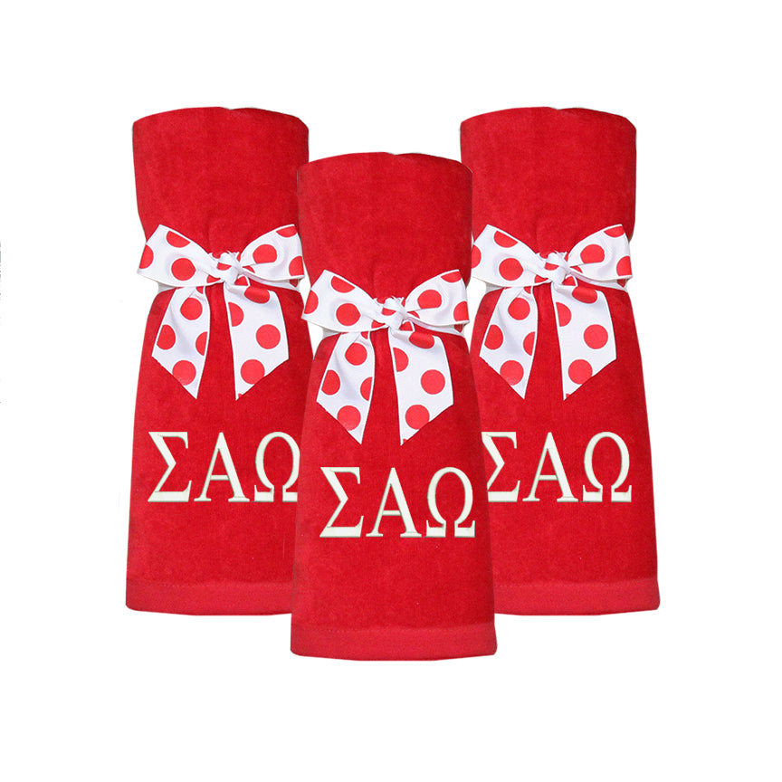 Sigma Alpha Omega Beach Towel