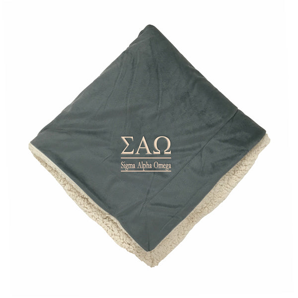 Sigma Alpha Omega Sherpa Throw Blanket