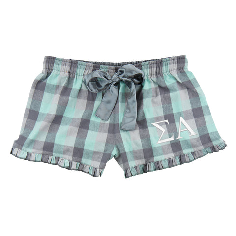 Sigma Alpha Flannel Boxer Shorts - Plaid