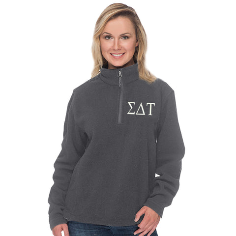 Sigma Delta Tau Quarter Zip Fleece Pullover