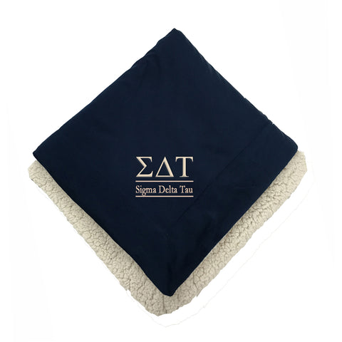 Sigma Delta Tau Sherpa Throw Blanket