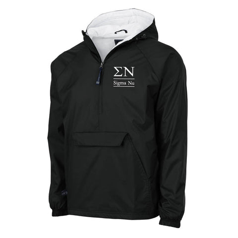Sigma Nu Flannel Lined Windbreaker