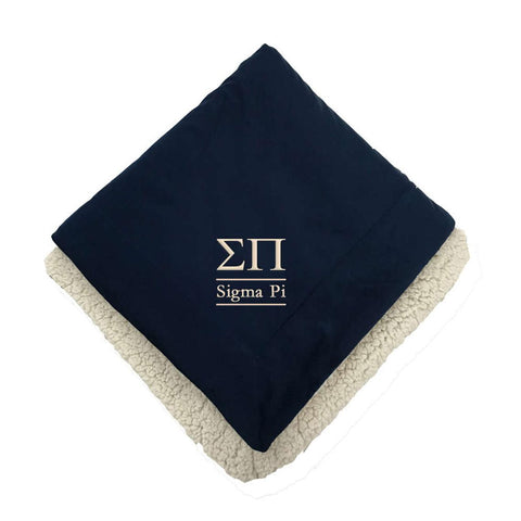Sigma Pi Sherpa Lined Blanket