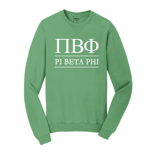 Pi Beta Phi Vintage Color Crewneck Sweatshirt