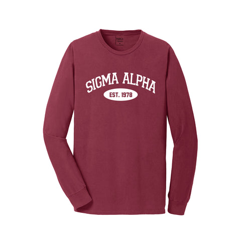 Sigma Alpha Long Sleeve Vintage T-Shirt