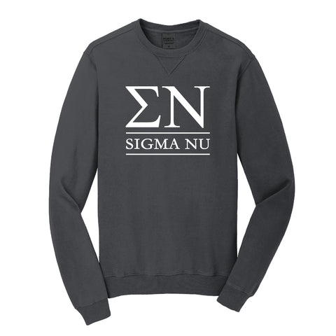 Sigma Nu Beach Washed Crewneck Sweatshirt