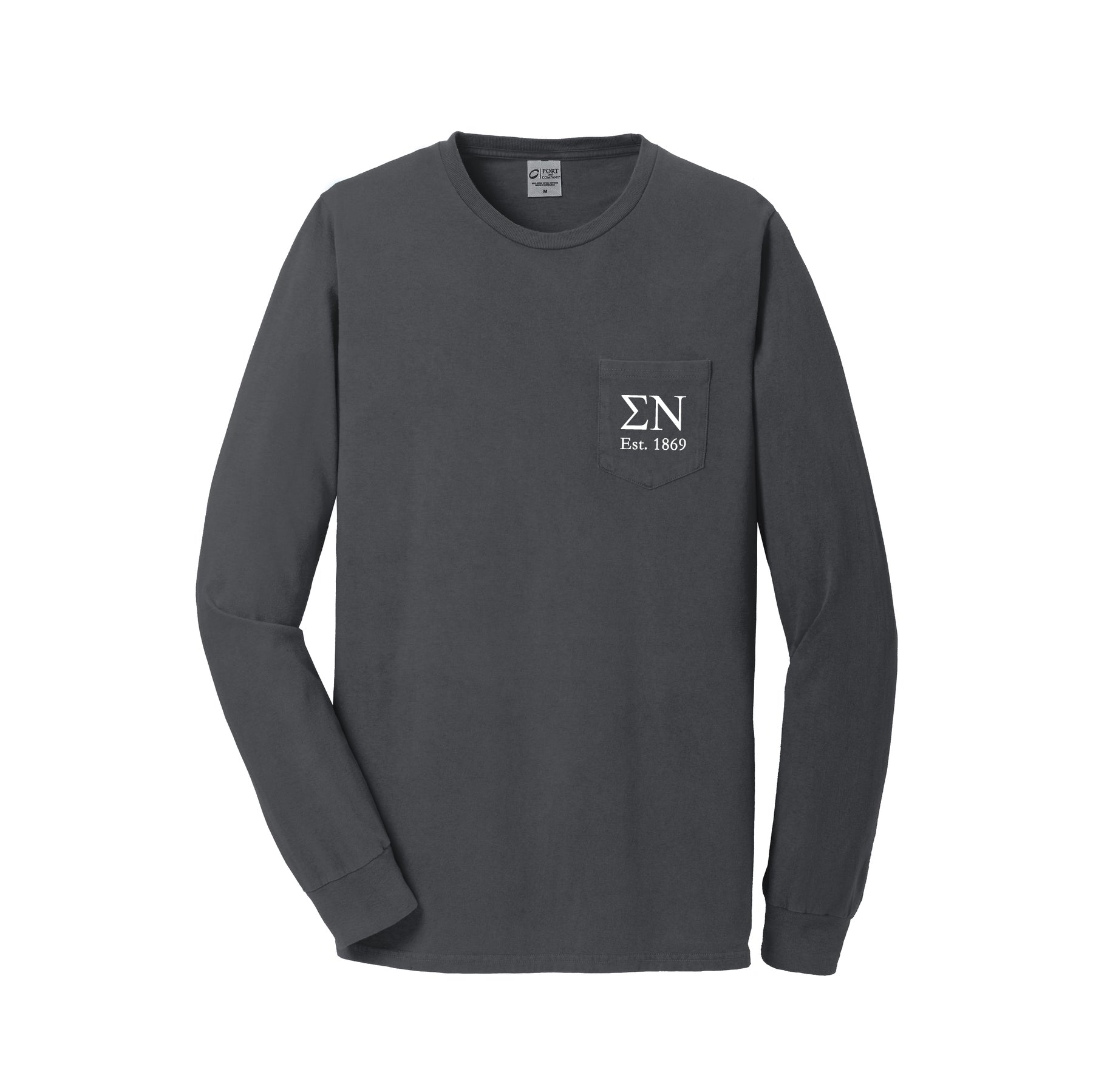 Sigma Nu Long Sleeve Pocket Tee