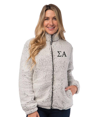 Sigma Alpha Sherpa Full Zip Jacket