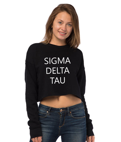 Sigma Delta Tau Cropped Crew Fleece