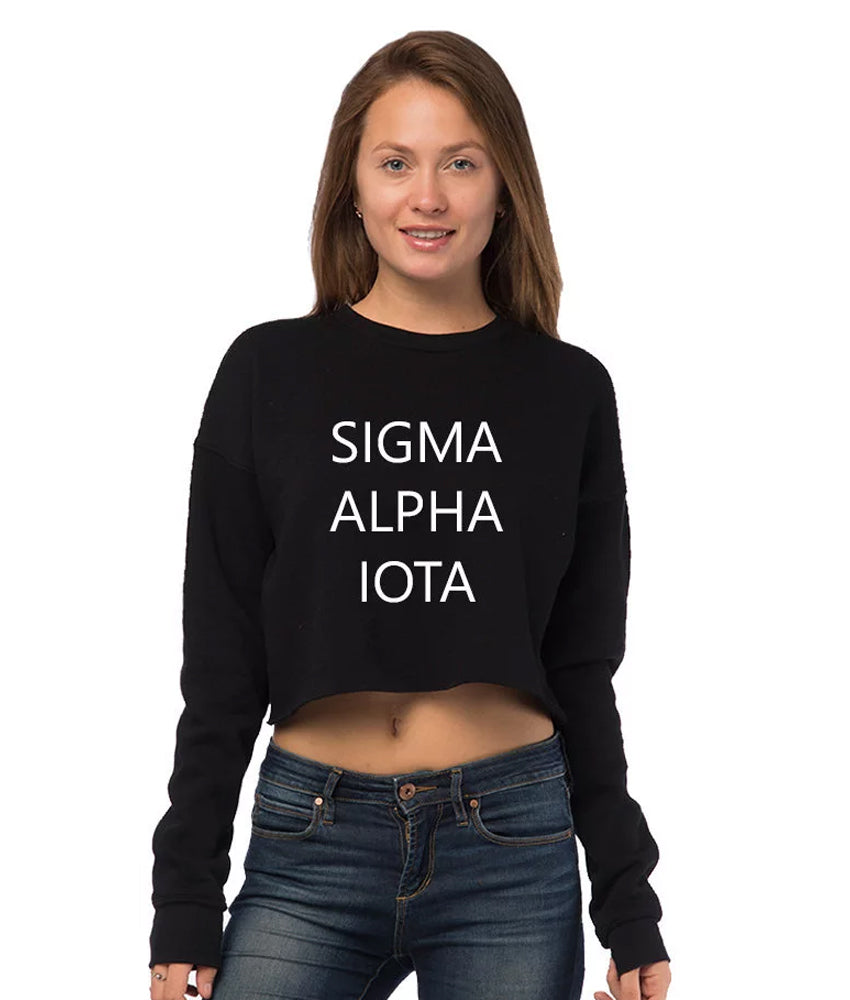 Sigma Alpha Iota Cropped Crew Fleece