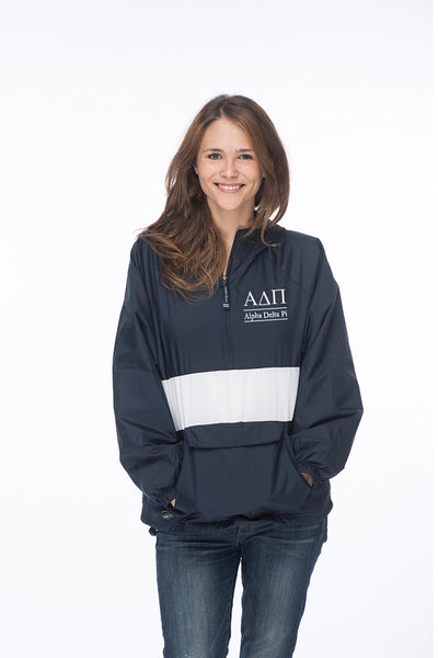 Alpha Delta Pi Classic Striped Windbreaker - Lined