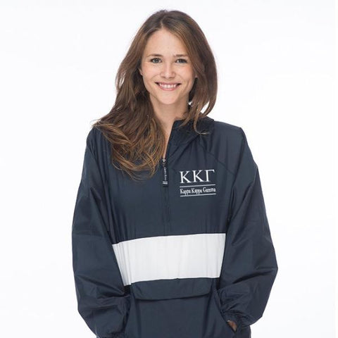 Kappa Kappa Gamma Classic Striped Windbreaker - Lined