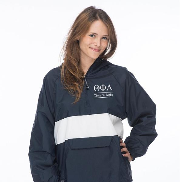 Theta Phi Alpha Classic Striped Windbreaker - Lined
