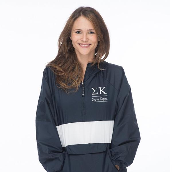 Sigma Kappa Classic Striped Windbreaker - Lined