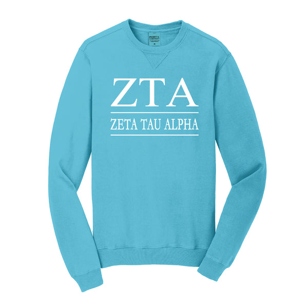 Zeta Tau Alpha Vintage Color Crewneck Sweatshirt