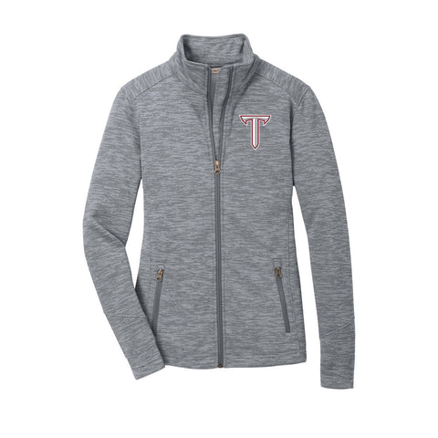 Troy University Digi Stripe Fleece Jacket - Ladies Jacket