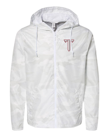 Troy University Full Zip Windbreaker