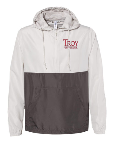 Troy University Lightweight Windbreaker Pullover Jacket