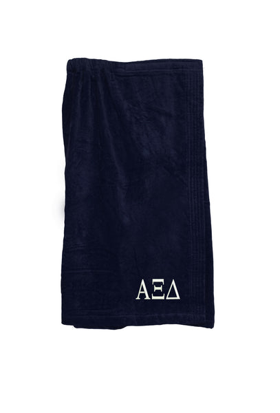 Alpha Xi Delta Velour Spa Wrap