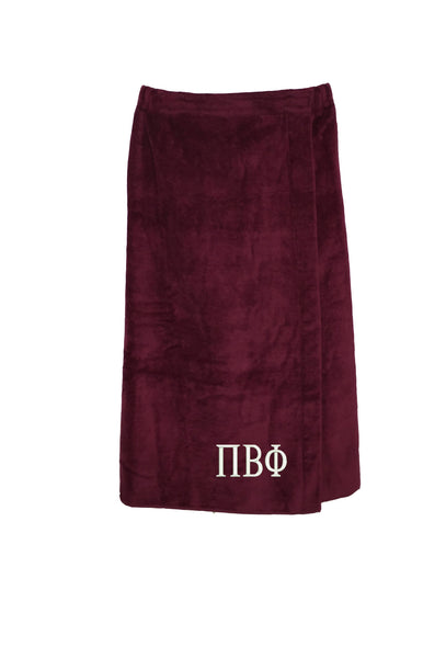 Pi Beta Phi Terry Velour Spa Wrap