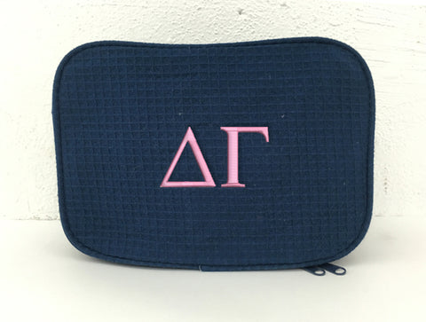 Delta Gamma Waffle Weave Cosmetic Bag