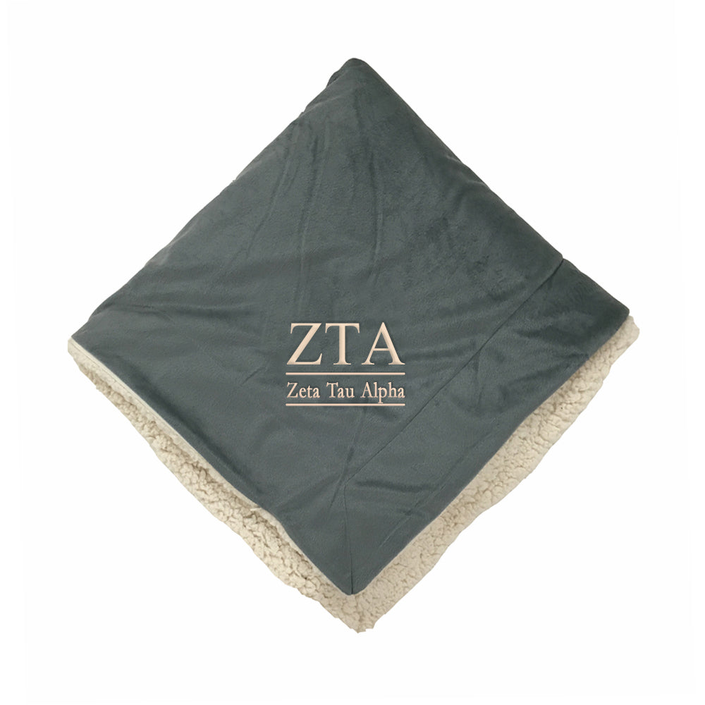 Zeta Tau Alpha Sherpa Throw Blanket