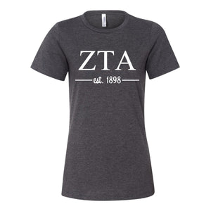 Zeta Tau Alpha Women's Relaxed Fit Short Sleeve Jersey Tee