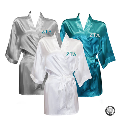 Zeta Tau Alpha Satin Robe