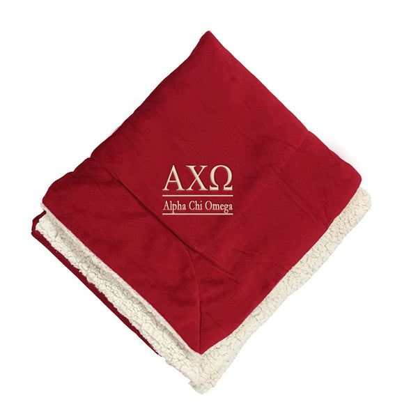 Alpha Chi Omega Sherpa Throw Blanket