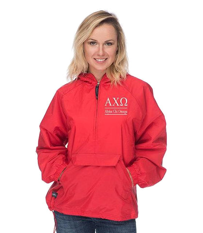 Alpha Chi Omega Windbreaker, Alpha Chi Omega Jacket, A Chi O Windbreaker, Jacket