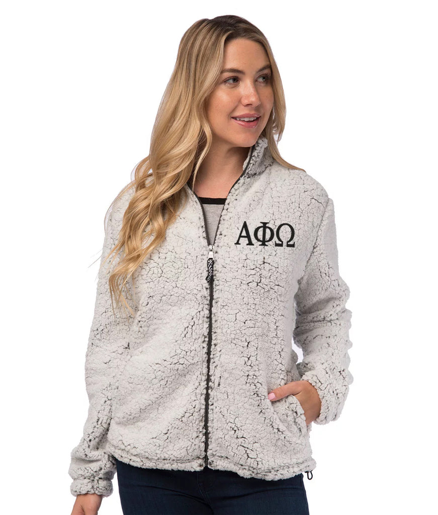 Alpha Phi Omega Sherpa Full Zip Jacket