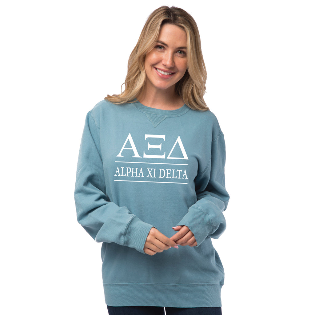Alpha Xi Delta Vintage Color Crewneck Sweatshirt