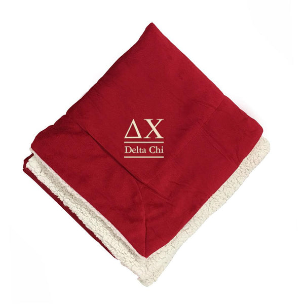 Delta Chi Sherpa Lined Blanket