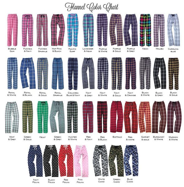 Rho Delta Chi Flannel Pants