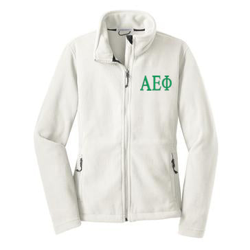 Alpha Epsilon Phi Fleece Zip Cadet Jacket
