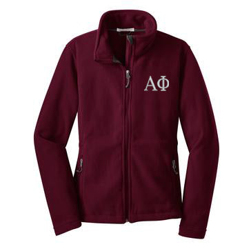 Alpha Phi Fleece Zip Cadet Jacket