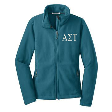 Alpha Sigma Tau Fleece Zip Cadet Jacket