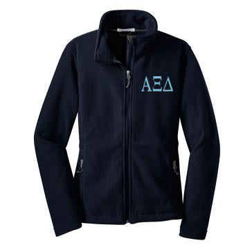 Alpha Xi Delta Fleece Zip Cadet Jacket