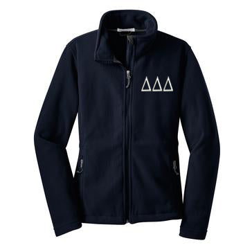 Delta Delta Delta Fleece Zip Cadet Jacket