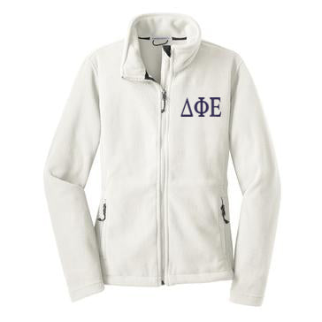 Delta Phi Epsilon Fleece Zip Cadet Jacket