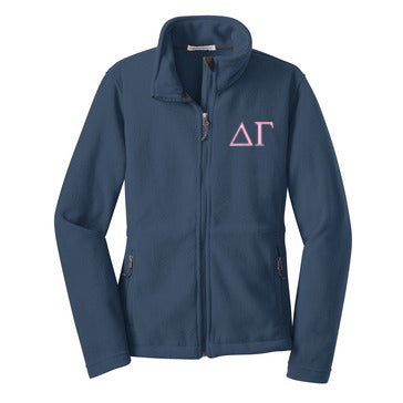 Delta Gamma Fleece Zip Cadet Jacket