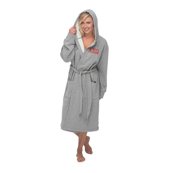 Alpha Chi Omega Hooded Sweatshirt Robe