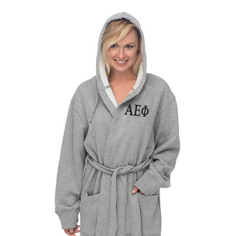 Alpha Epsilon Phi Hooded Sweatshirt Robe