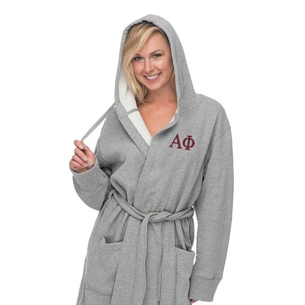 Alpha Phi Hooded Sweatshirt Robe