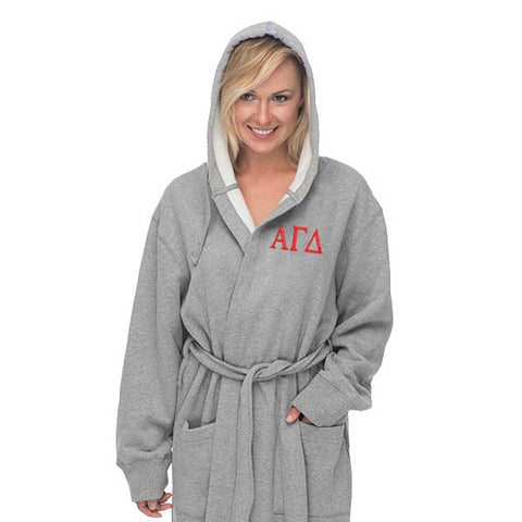 Alpha Gamma Delta Hooded Sweatshirt Robe