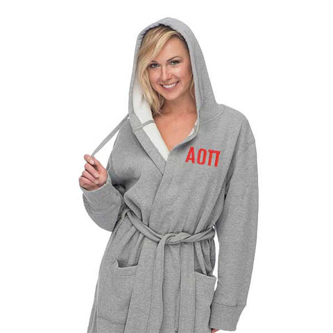 Alpha Omicron Pi Hooded Sweatshirt Robe