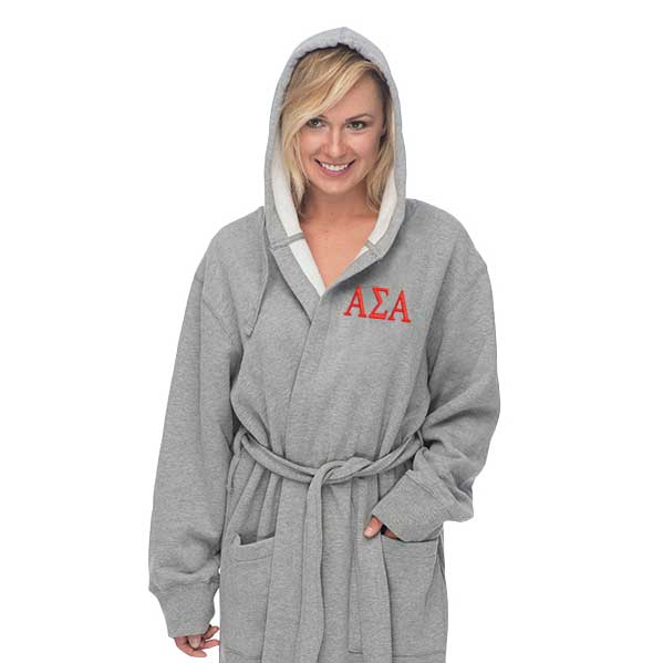 Alpha Sigma Alpha Hooded Sweatshirt Robe